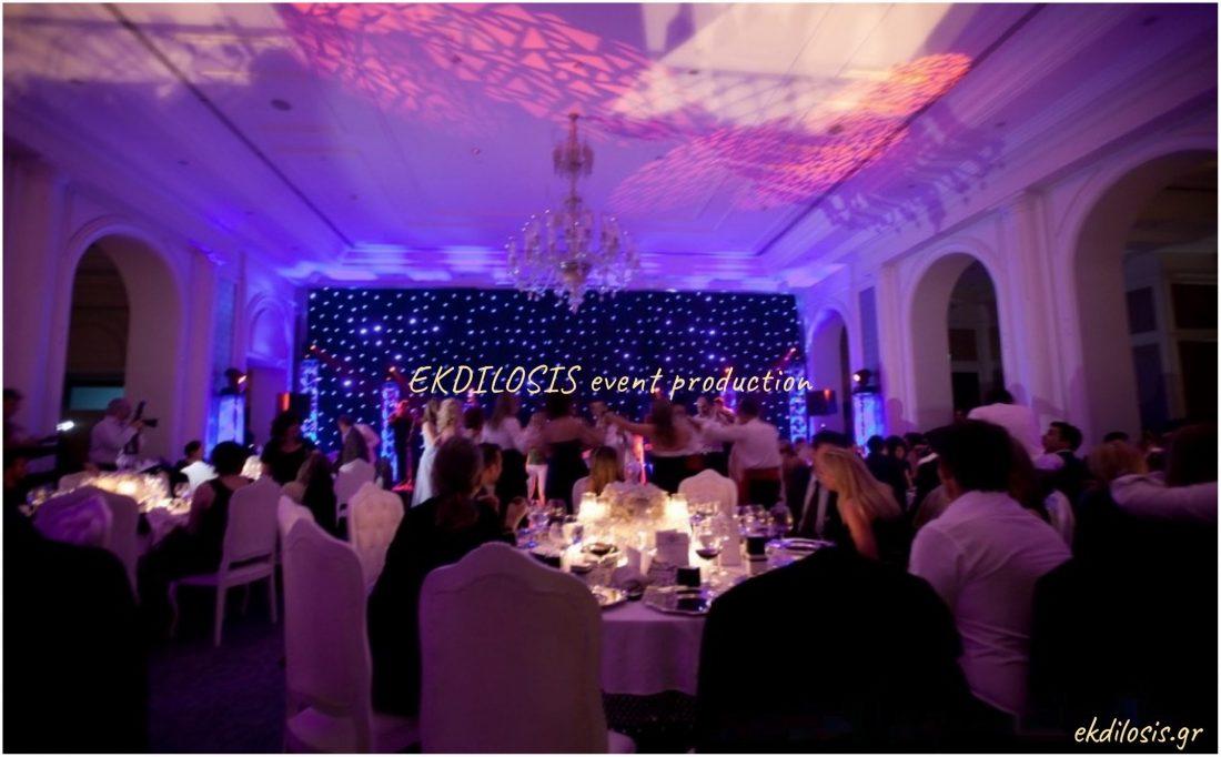 γαμήλια δεξίωση στο ciragan palace kempinski istanbul της Ekdilosis event production