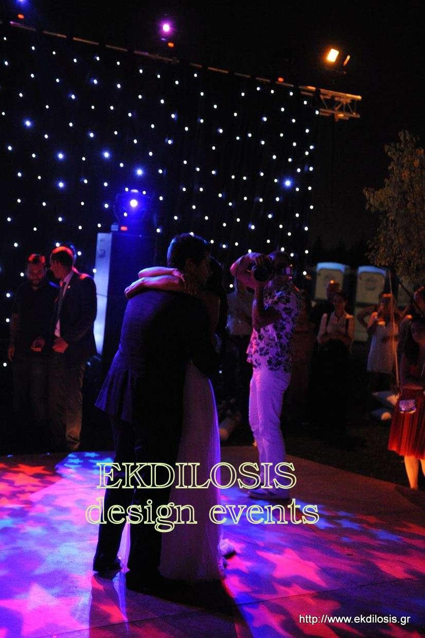 φωτισμοί εκδήλωσης & δεξίωσης γάμου εξωτερικού χώρου της EKDILOSIS event production