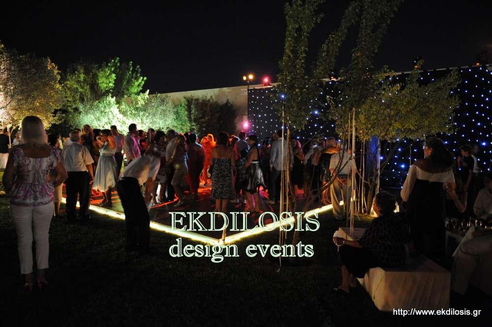 φωτισμός εκδήλωσης για γάμο της Ekdilosis event production
