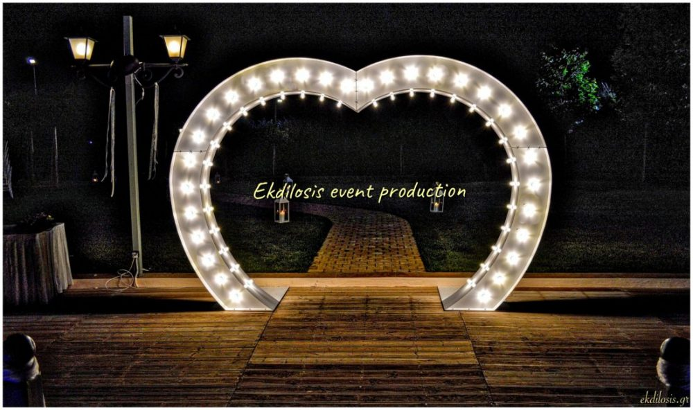 φωτιζόμενη καρδιά για γάμους
