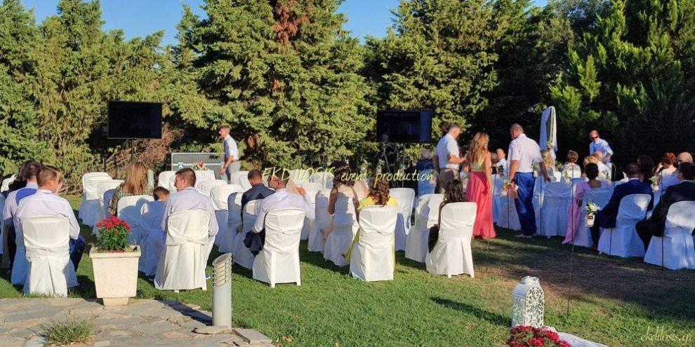 τηλεοράσεις γαμήλιων εκδηλώσεων της EKDILOSIS event production